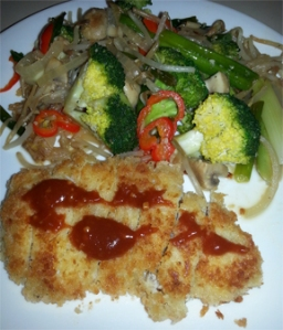 Tonkatsu and Veggie Stir Fry