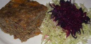 St. Benedict's Meatloaf  and Irish Little People Salad/Slaw