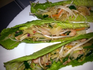 Thai lettuce wrap with romaine hearts
