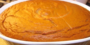 Pumpkin Pudding Fresh out of the oven.
