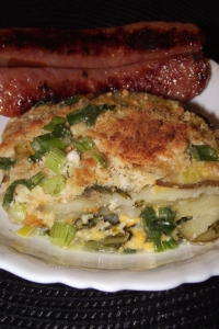Served with garlic Polish sausage