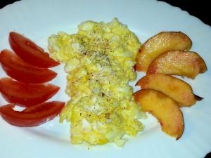 Soft, buttery scrambled eggs.